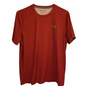Under Armour Heat Gear Loose Red Shirt Large